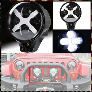 Us 6 Inch 60w Round Led Fog Spot Light X Drl Turn Signal Reverse Offroad Jeep