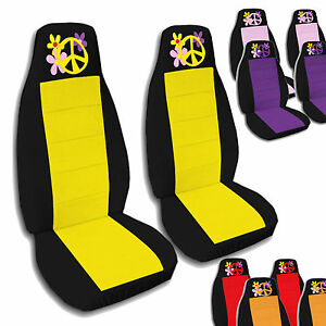2 Front Flower Power Seat Covers 2005 2010 Volkswagen Beetle Choose Colors