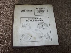 Bobcat Auger Landscape Power Rake Grinder Tiller Shop Service Repair Manual