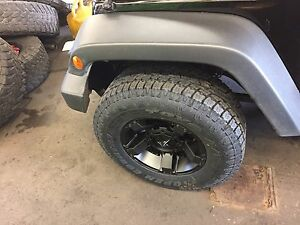 5 17 Xd Rockstar 3 Black Wheels Jeep Wrangler Jk 33 Toyo At2 Tires Package