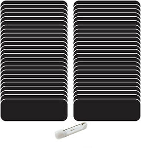 50 Blank 1 X 3 Black White Name Badge Kit a Tags 1 4 Corners Pins