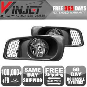 Fits 99 00 Honda Civic Si 2 4dr Oe Fog Lights Clear Lamps Wiring Kit Included