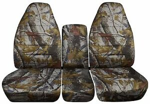 40 20 40 Camouflage Seat Covers Fits 2010 To 2014 Chevrolet Silverado Trucks