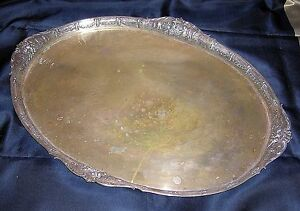 Lazarus Posen 800 Silver Massive Serving Tray 23 5 8 2185 Grams B Offer