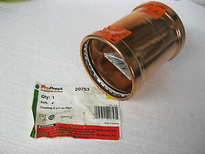 Propress Viega 20753 Xl c 4 Copper Coupling Cxc No Stop