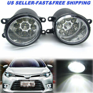 36w Pair 9led Fog Light Driving Lamp Rh Lh Side Fit For Toyota Camry Yaris Lexus