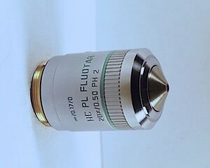 Leica Hc Pl Fluotar 40x Ph2 Phase Contrast M25 Microscope Objective