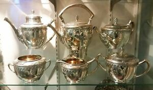 Important Heavy Gorham Sterling Silver 6 Pc Coffee Tea Set Service 1140 Floral