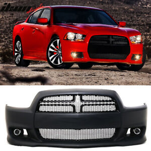 Fits 11 14 Dodge Charger Srt8 Style Hellcat Conversion Front Bumper Cover Pp