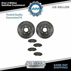 Nakamoto Front Ceramic Brake Pad Rotor Kit For Honda Accord Civic Element