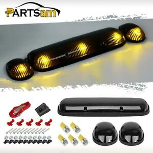 3xsmoke Cab Roof Top Marker Lights 5050 2825 Amber Led Bulbs For 02 07 Chevy gmc