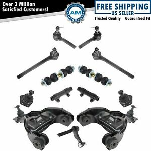Steering Suspension Control Arms Ball Joints Tie Rods Idler Sway Link Kit 13pc
