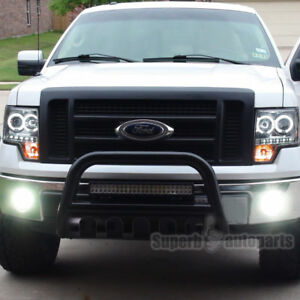 Ford 04 19 F150 03 17 Expedition 3 Black S S Bull Bar Push Guard W Skid Plate
