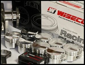 Bbc Chevy 555 Wiseco Forged Pistons Rings 4 560x4 250 Str 16cc Dome Wd 03122