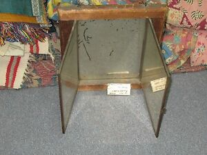 Antique Victorian Wood Frame Tri Fold Mirror Japanese 4071 Brevet