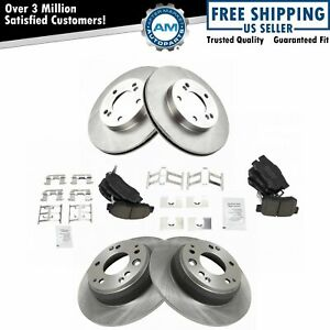 Front Rear Posi Ceramic Disc Brake Pad Rotor Kit Set For Honda Acura New