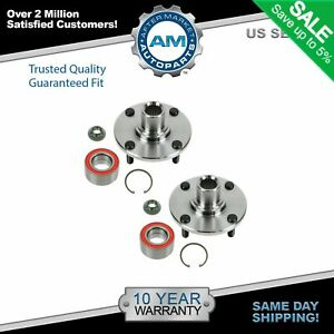 Front Wheel Hub Bearing Pair Kit Set Of 2 New For 00 11 Ford Focus