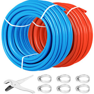 2 Rolls 1 2 300ft Pex Tubing Pipe Non barrier Pex Piping Water Plumbing Red Blue