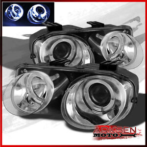 Fits 98 01 Acura Integra Halo Projector Head Lights Front Lamps Pair Left r
