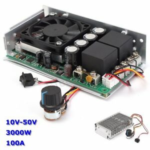 10 50v 100a 3000w Programable Reversible Dc Motor Pwm Control Speed Controller