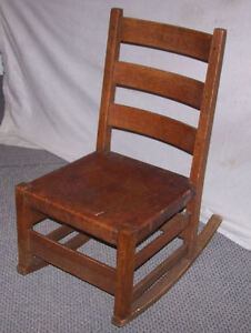 Antique Mission Oak Sewing Rocking Chair Gustav Stickley