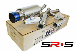 Srs Catback Exhaust System 99 00 Honda Civic Si Only 2 Dr Burnt Tip