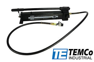 Temco Manual Hand Hydraulic Power Pack Pump 2 Stage 10 000 Psi 122 In3 Capacity
