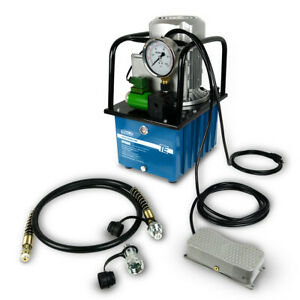 Electric Hydraulic Pump Power Pack 2 Stage Single Acting 120v 10k Psi 488in3 Cap