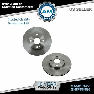 Front Disc Brake Rotor Pair Set For Mazda 323 Protege Escort Tracer New