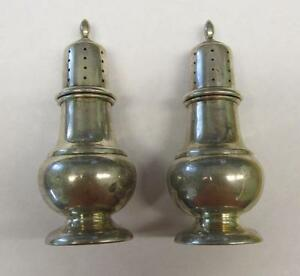Vintage Sterling Silver Fisher Salt Pepper Shakers 102 5grams 6 G6232