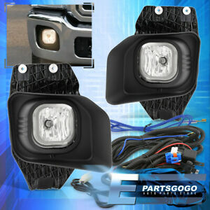 For 11 16 F250 f350 f450 Superduty Clear Bumper Fog Lights Lamps Wiring Switch