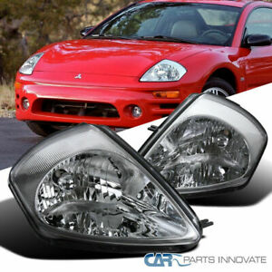 For 00 05 Mitsubishi Eclipse Clear Lens Headlights Replacement Head Lamps Pair