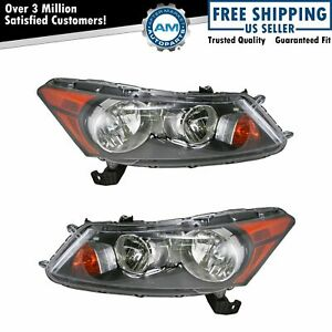 Front Headlights Headlamps Lights Lamps Pair Set For 08 12 Honda Accord Sedan