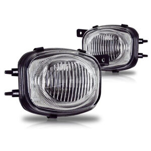 For 2000 2002 Mitsubishi Eclipse Chrome Housing Clear Lens Abs Fog Lights Lamps