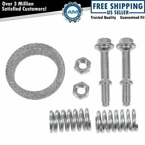Front Exhaust Pipe Gasket Spring Bolt Kit Set For 98 01 Prizm Toyota Corolla