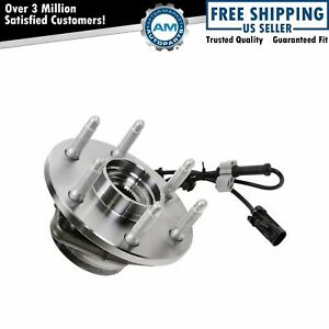 Front Wheel Hub Bearing W Abs For Chevy Gmc Pickup Truck 4x4 4wd Awd