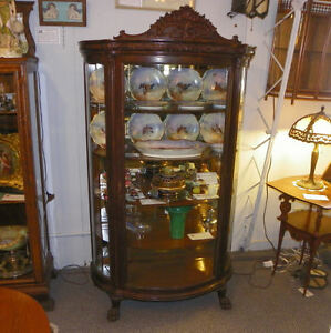 Antique Oak China Curio Cabinet Made By Horner Furniture Company