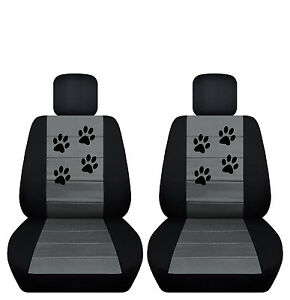 Fits 2007 To 2011 Toyota Camry Velvet Paw Print Seat Covers Airbag Friendly