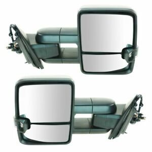 Mirror Power Folding Heated Led Signal Marker Spotlight Textured Pair For Gm New