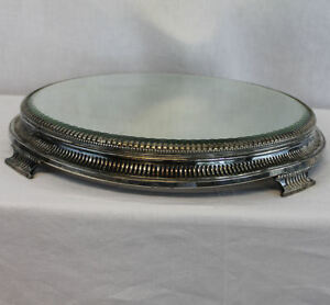 Antique Pairpoint Signed Silver Plated Mirror Plateau