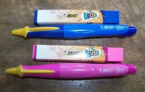 Lot Of 34 Bic Kids Mechanical Pencils And Erasers Blue Pink