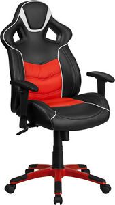 High Back Rosso Corsa Red Vinyl Executive Swivel Office Chair