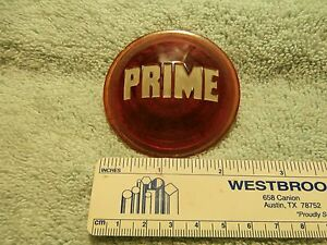 Old Antique Prime Red Glass Tail Light Lens 1920 30s