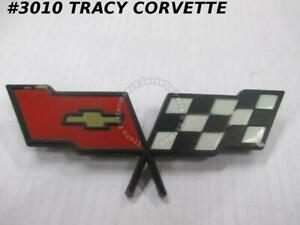 1982 Corvette Nos 14042293 Fuel Gas Door Emblem Only not Coll Ed needs Touch Up