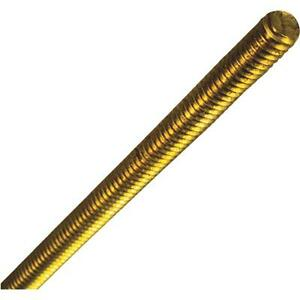 10 Pk Solid Brass 1 4 X 20 Tpi X 1 Threaded Rod N182949