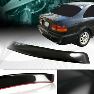 Black Abs Plastic Rear Window Roof Visor Spoiler Wing Fit 96 00 Honda Civic 2 dr