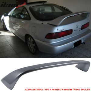 Fits 94 01 Integra Dc2 Type R Paint Nh623m Satin Silver Metallic Trunk Spoiler