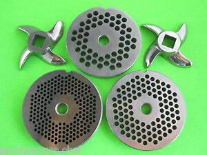 Meat Grinder Plate And Knife Set Size 12 2 3 4 Diameter Plates 3 Sizes