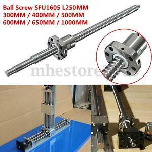 Ball Screw C7 sfu1605 L250 300 400 500 600 650 1000mm W Single Ballnut For Cnc