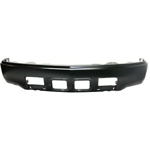 Front Bumper For 2014 2015 Chevrolet Silverado 1500 Wt Painted Black Steel